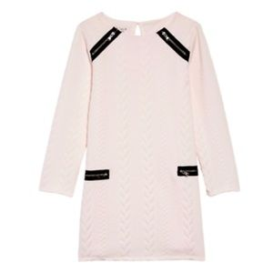 Pippa & Julie Pink Cable Double Knit Zip Dress